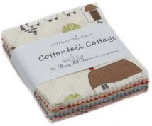 "Cottontail Cottage - Mini Charm by Bunny Hill for Moda Fabrics - 42 x 2.5"" fabric squares"
